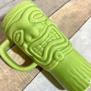 Tiki Tribal Green Tikki Tall Commuter Mug